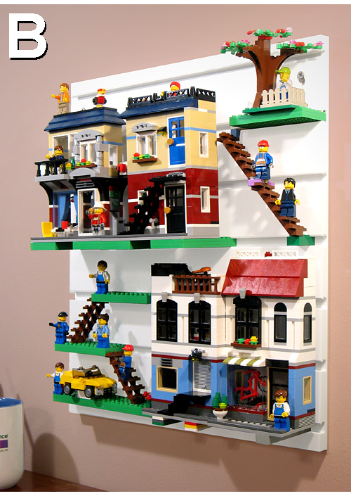Brickrack Lego Display System